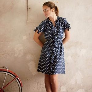 Lil Anthropologie Hailstones silk dress
